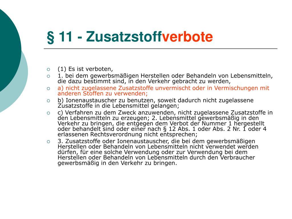 § 11 - Zusatzstoff