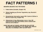 fact patterns i