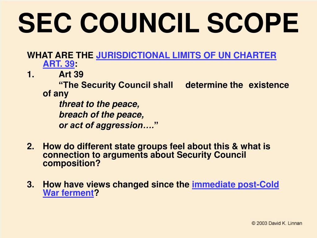 SEC COUNCIL SCOPE