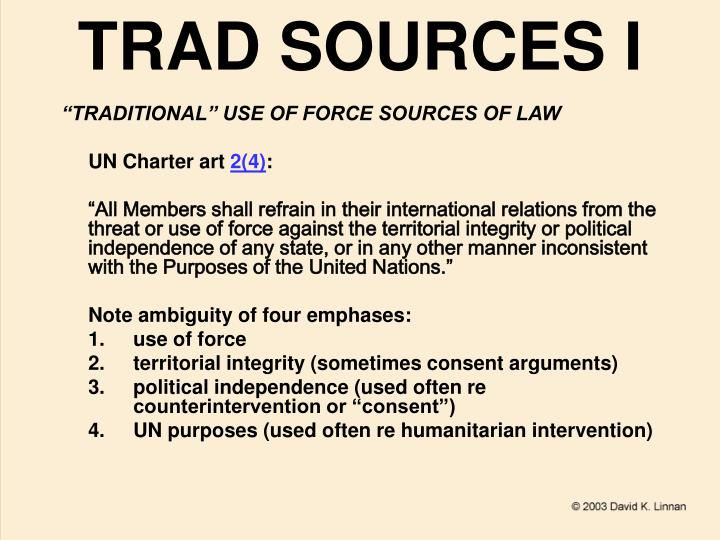 Trad sources i