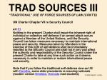 trad sources iii