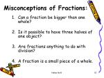misconceptions of fractions