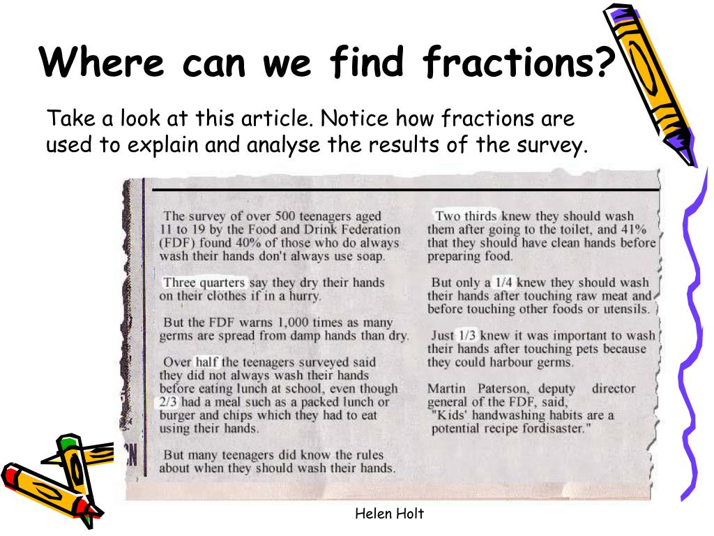 Where can we find fractions?