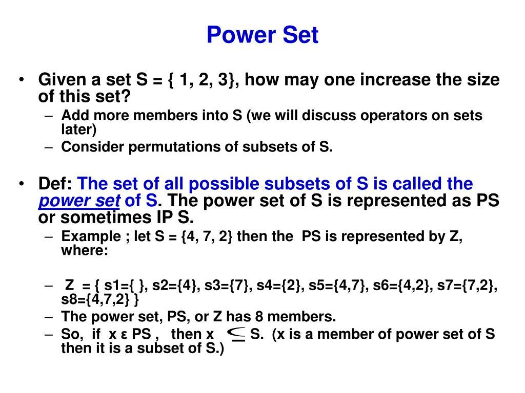 Power Set