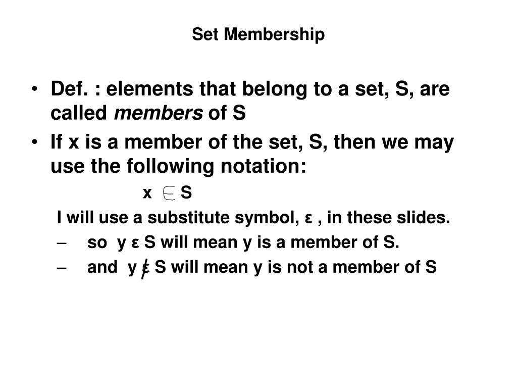 Set Membership