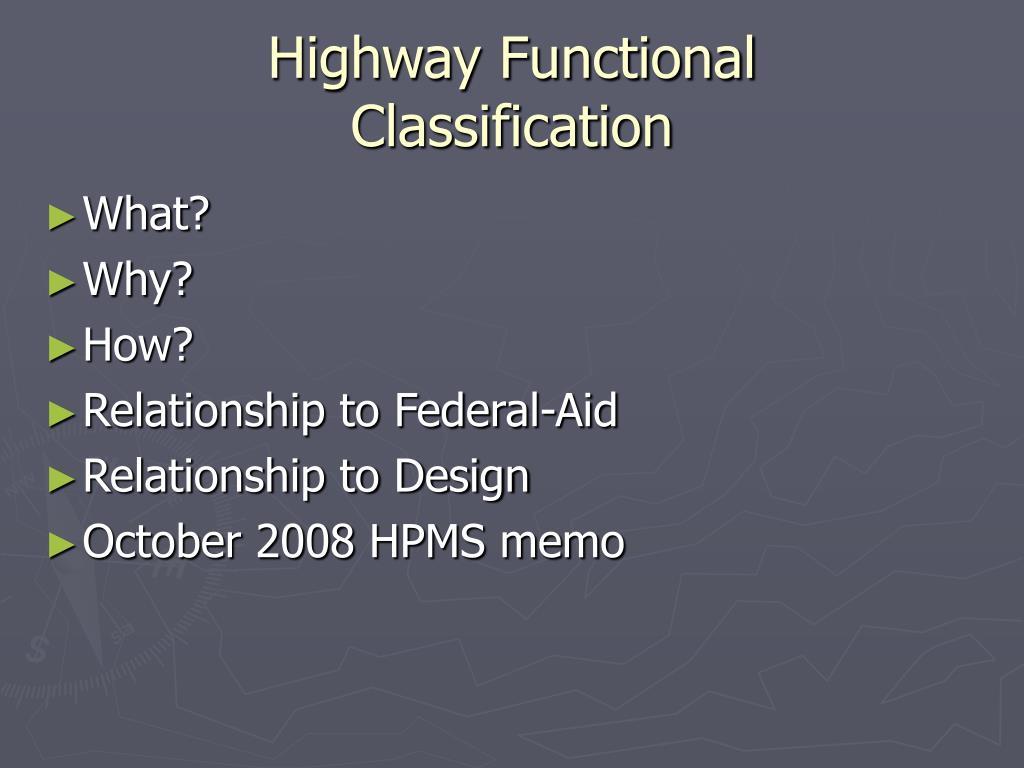Highway Functional