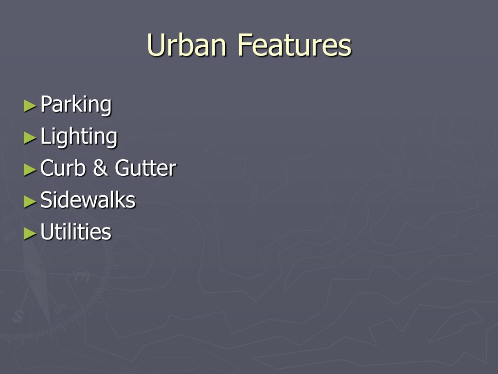 Urban Features