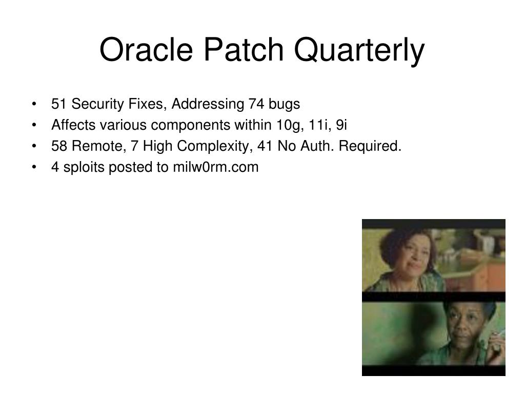 Oracle Patch Quarterly