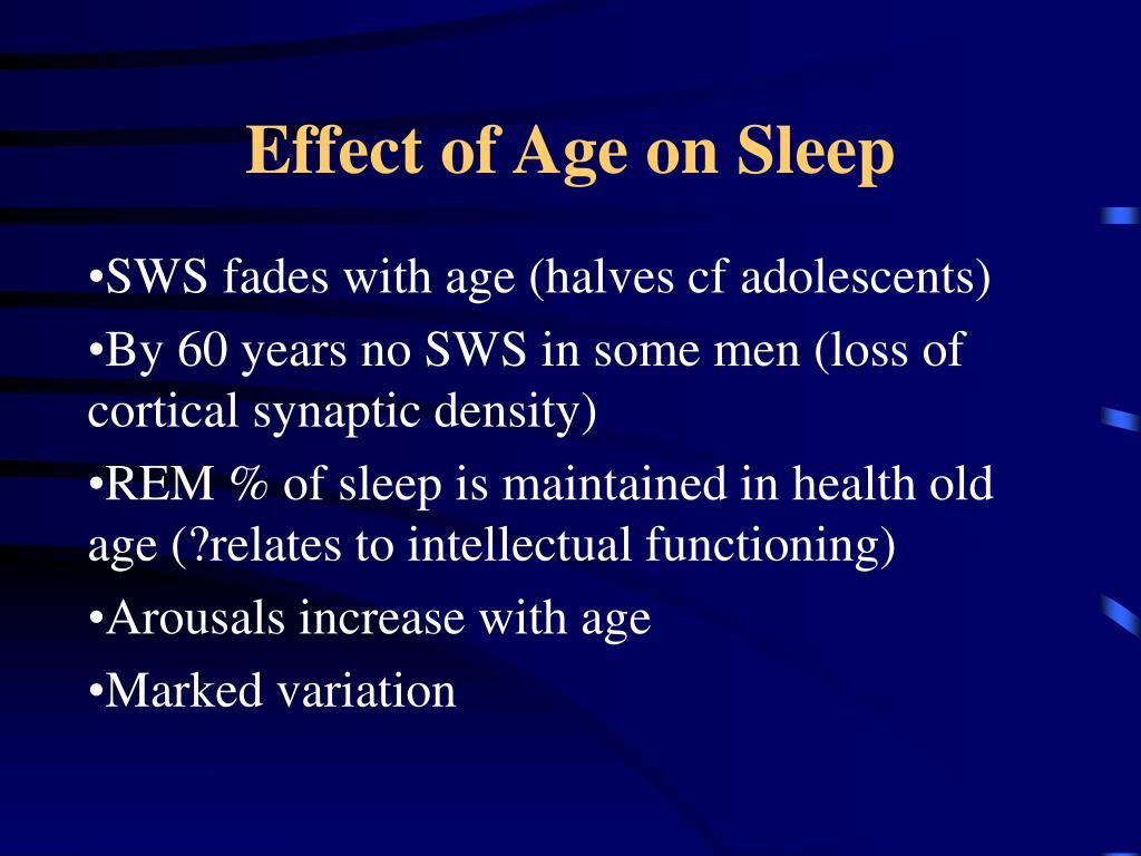 Effect of Age on Sleep
