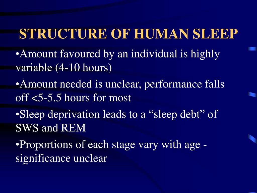 STRUCTURE OF HUMAN SLEEP