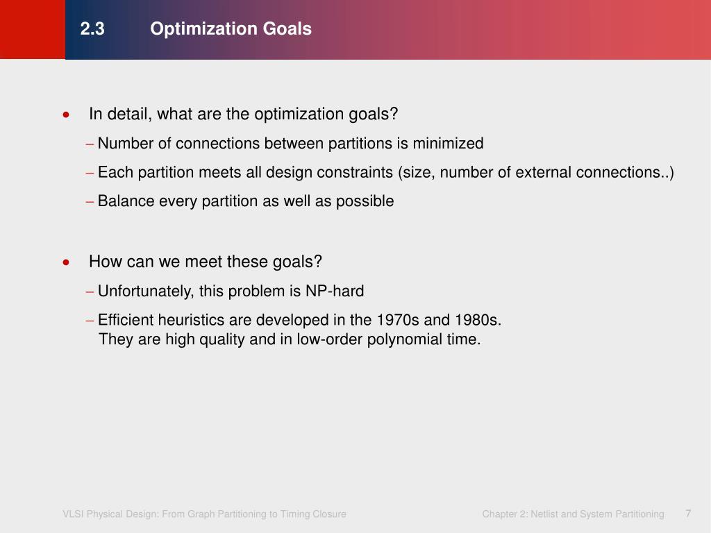 2.3Optimization Goals