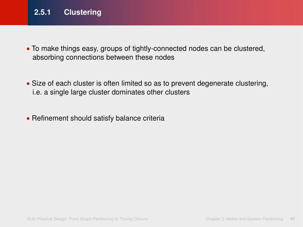 2.5.1	Clustering