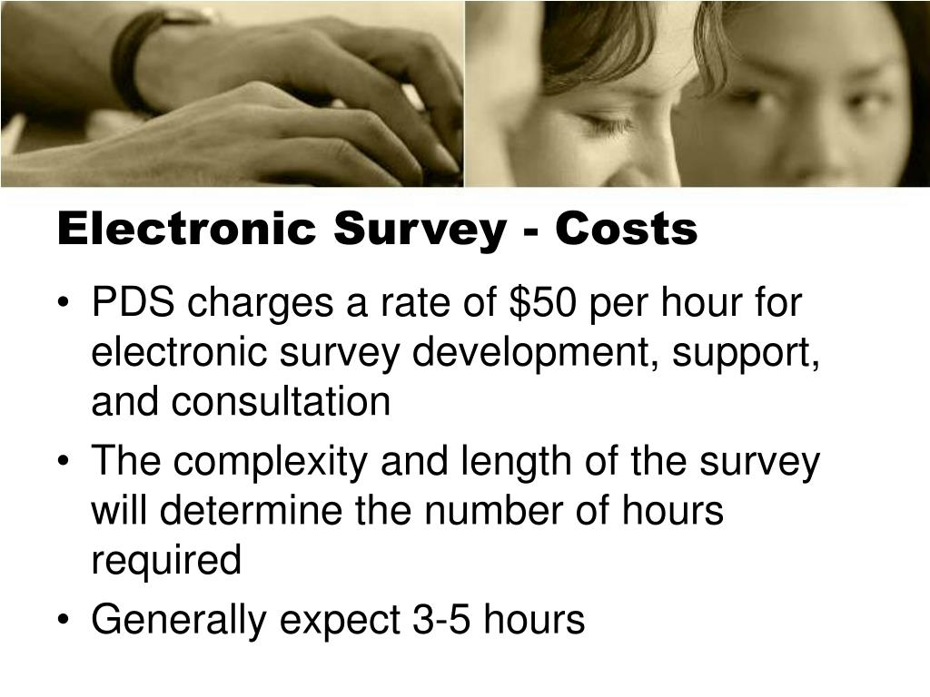 Electronic Survey - Costs