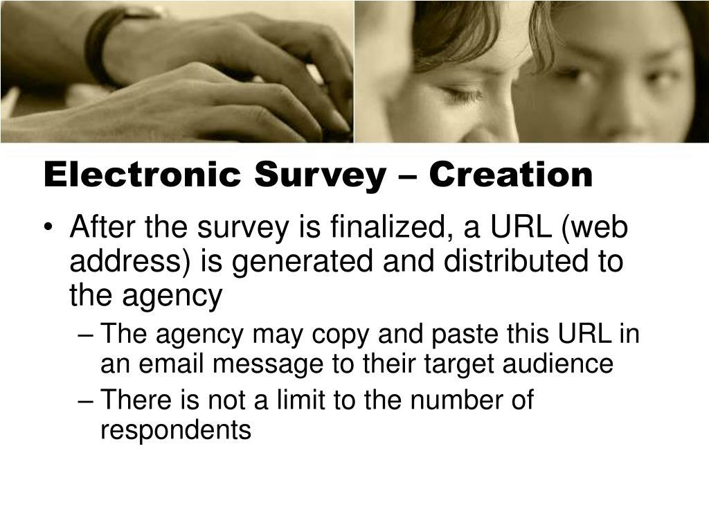 Electronic Survey – Creation