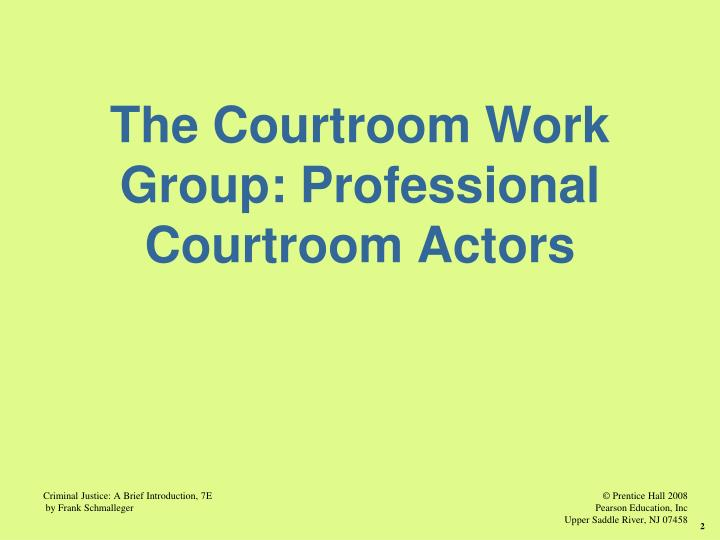 Courtroom workgroups
