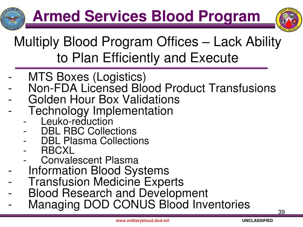 Armed Services Blood Program