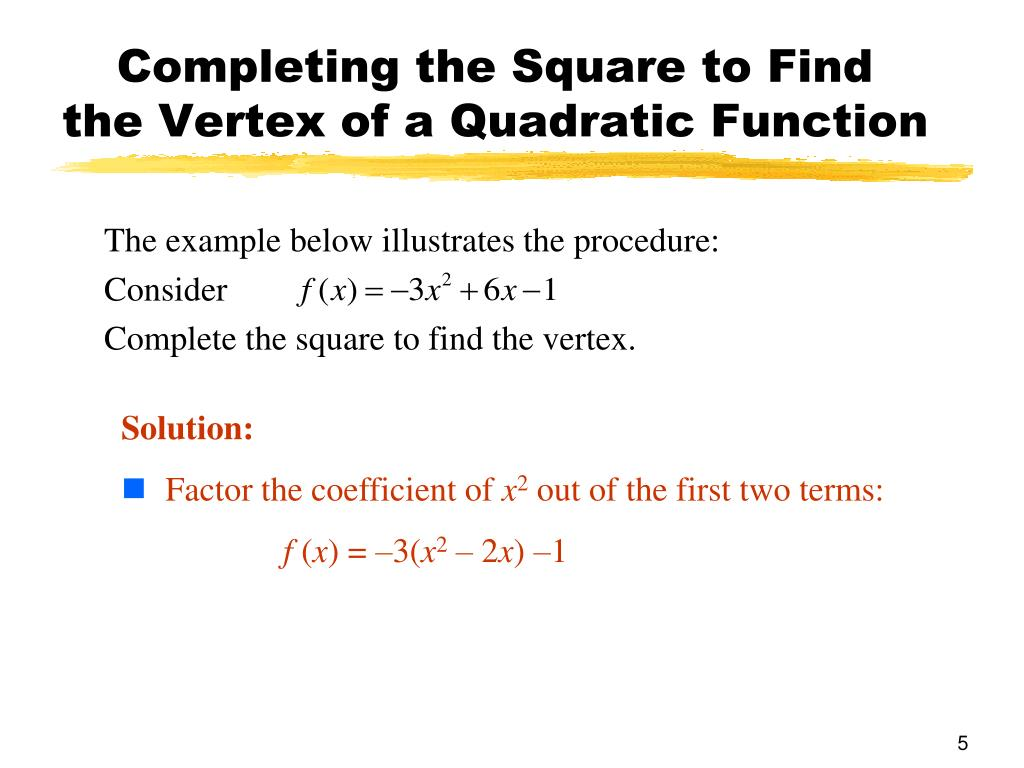 Completing the Square to Find