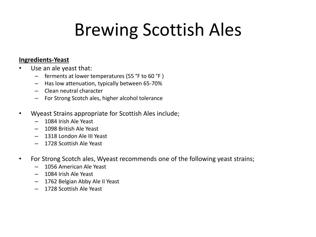 Brewing Scottish Ales