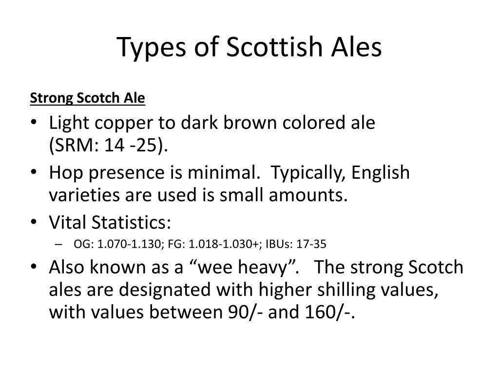 Types of Scottish Ales