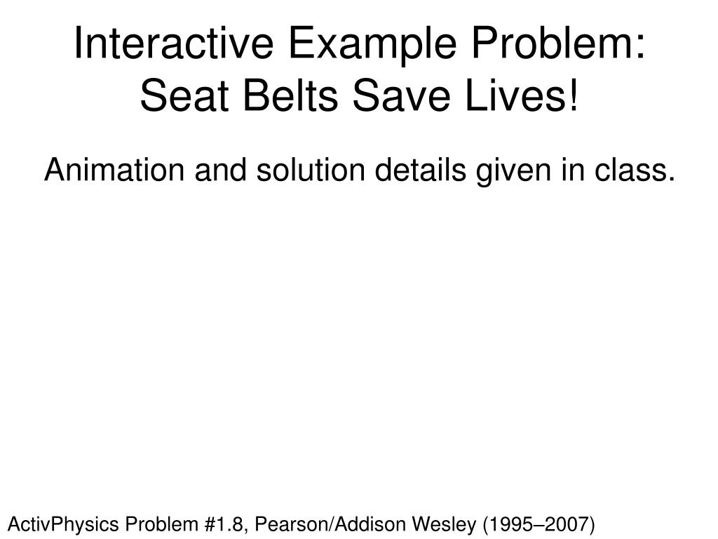 Interactive Example Problem: