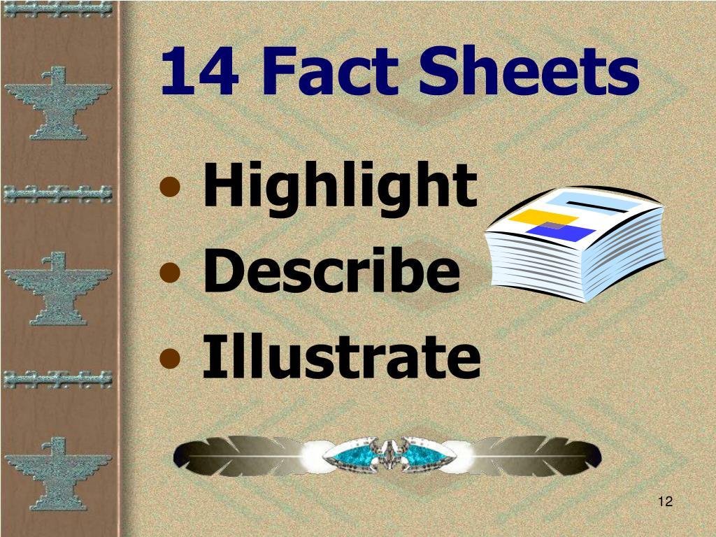 14 Fact Sheets