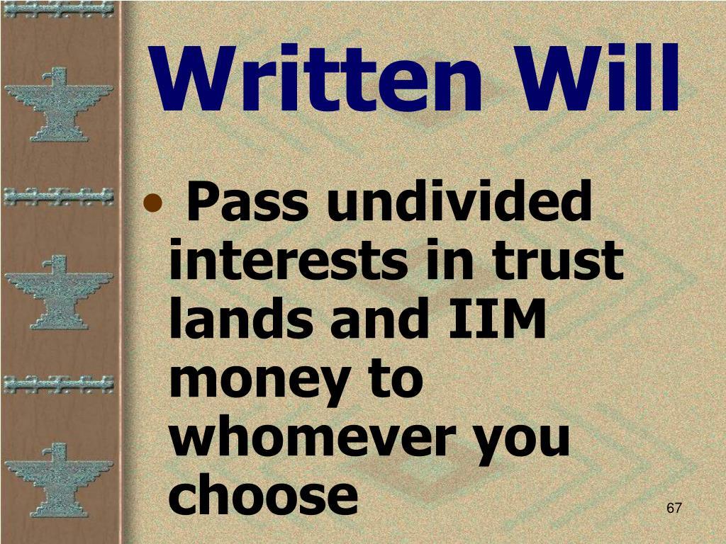 Written Will