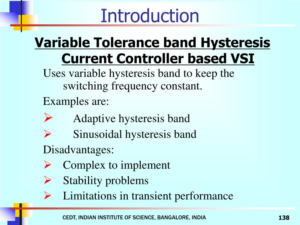 Variable Tolerance band Hysteresis Current Controller based VSI