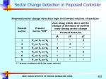 sector change detection in proposed controller152