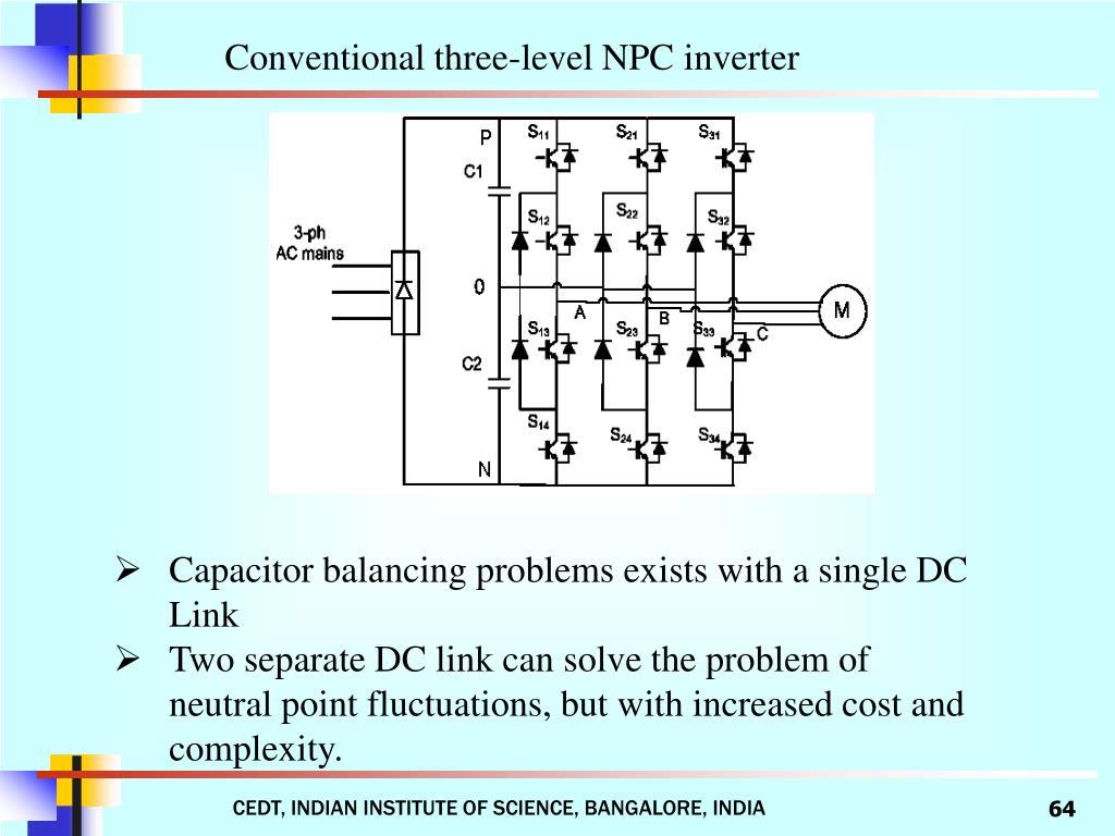 Conventional three-level NPC inverter