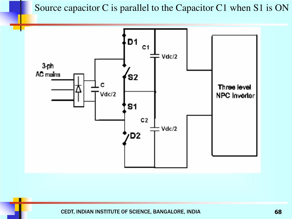 Source capacitor C is parallel to the Capacitor C1 when S1 is ON