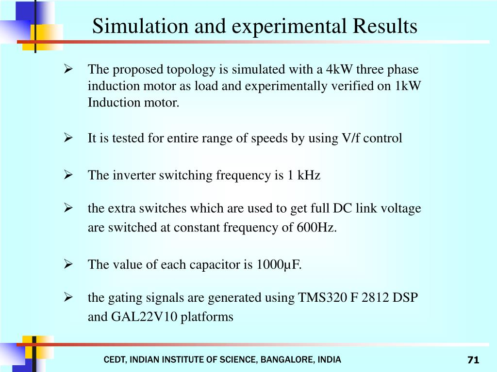 Simulation and experimental Results