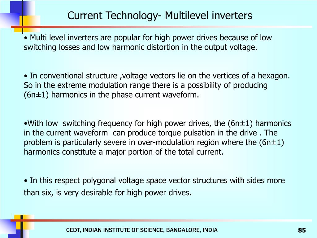 Current Technology- Multilevel inverters