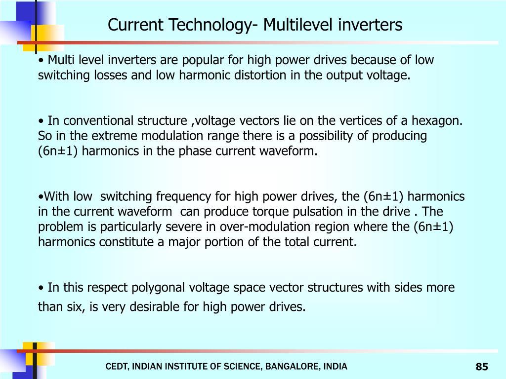 Current Technology- Multilevel inverters