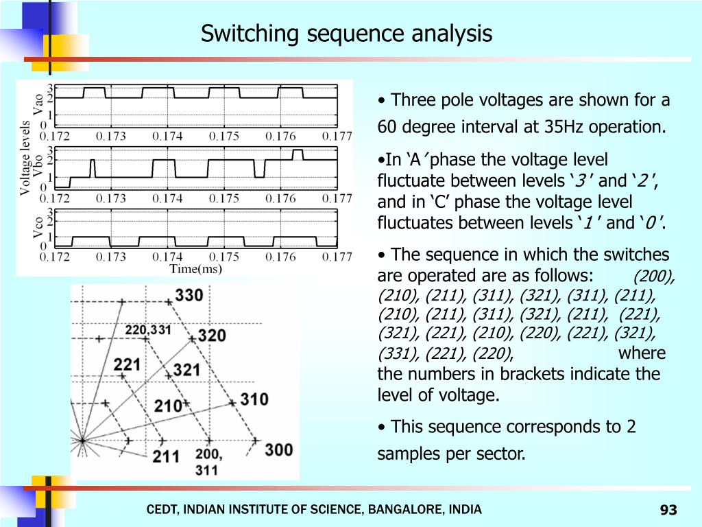 Switching sequence analysis