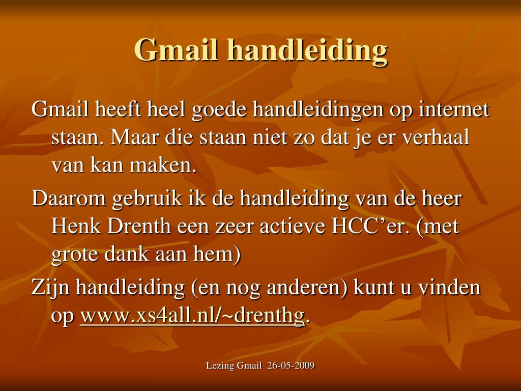 Gmail handleiding