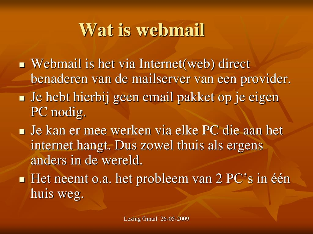 Wat is webmail