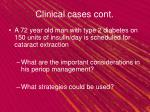 clinical cases cont