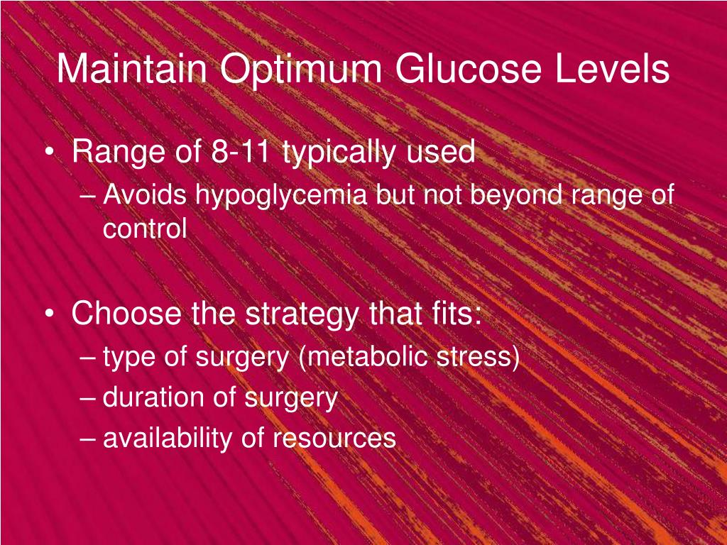 Maintain Optimum Glucose Levels