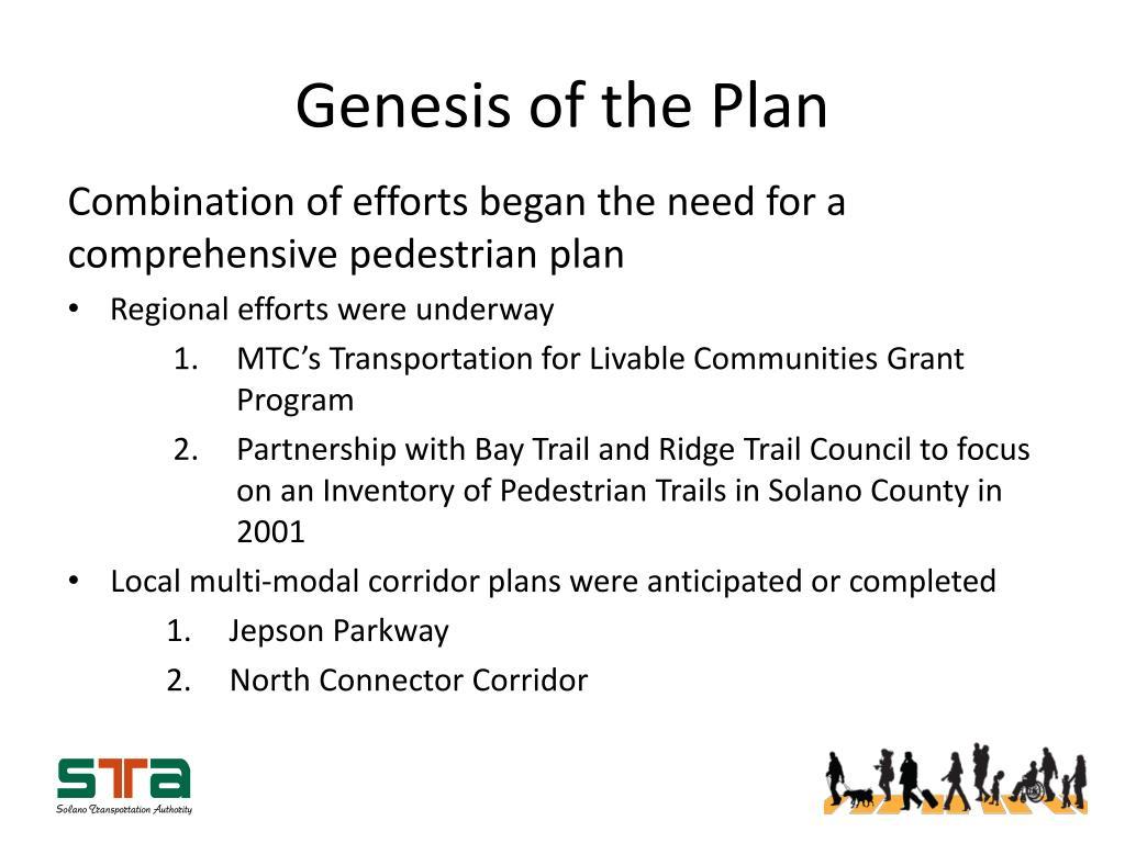 Genesis of the Plan