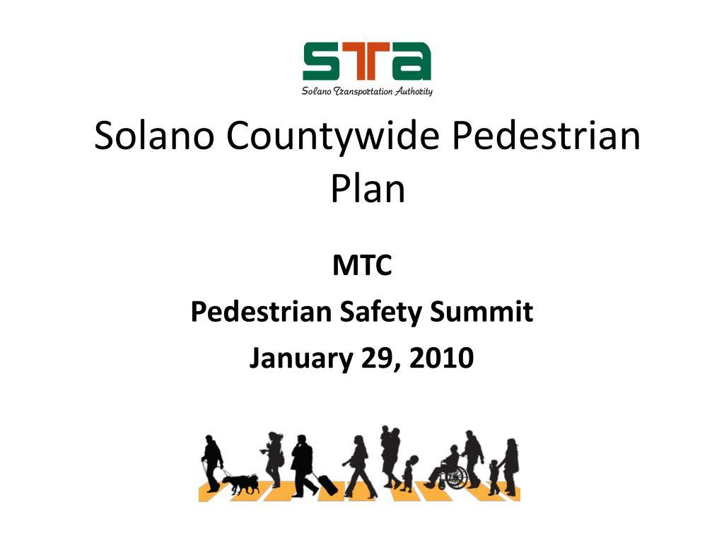Solano Countywide Pedestrian Plan