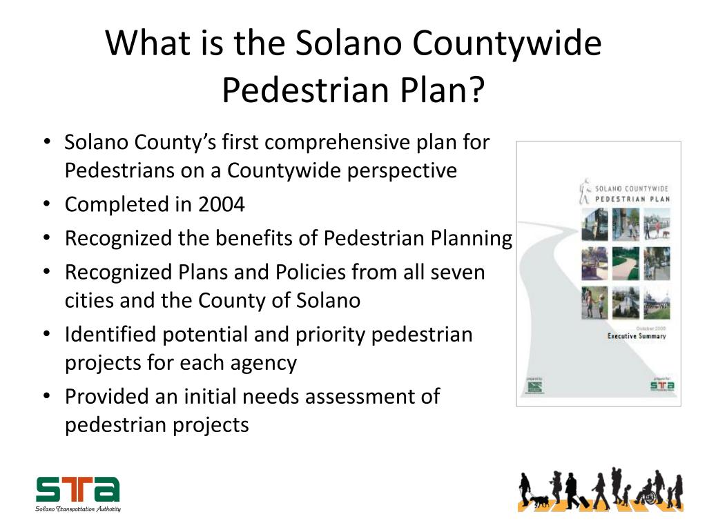 What is the Solano Countywide Pedestrian Plan?