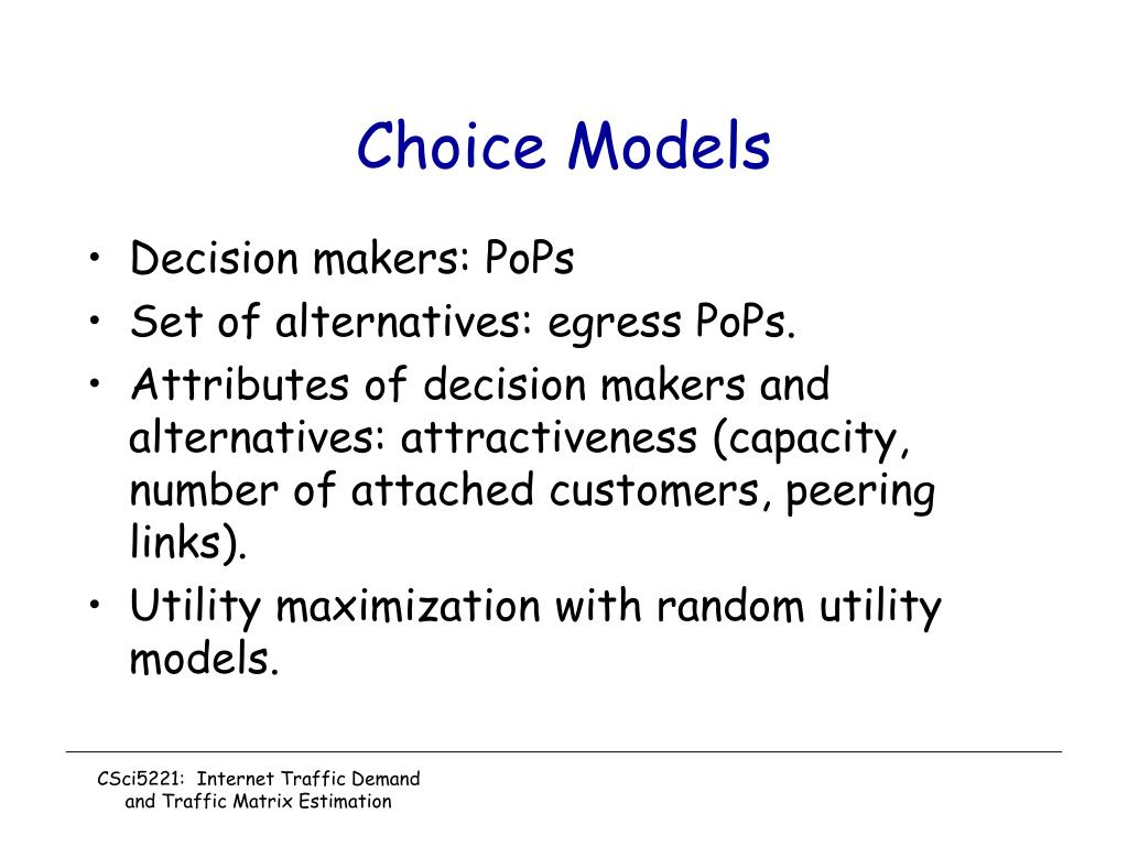 Choice Models