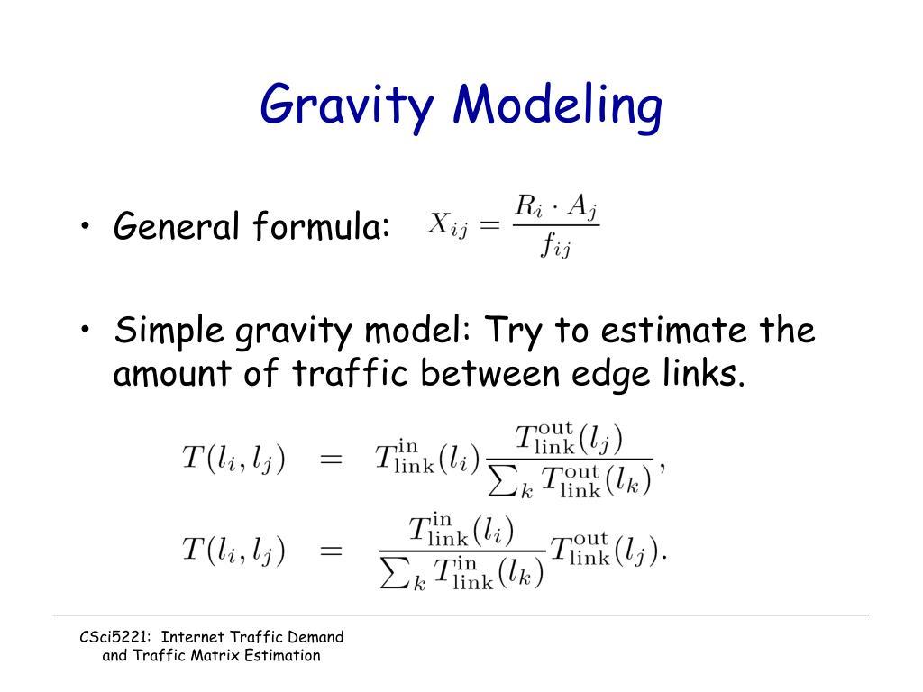 Gravity Modeling