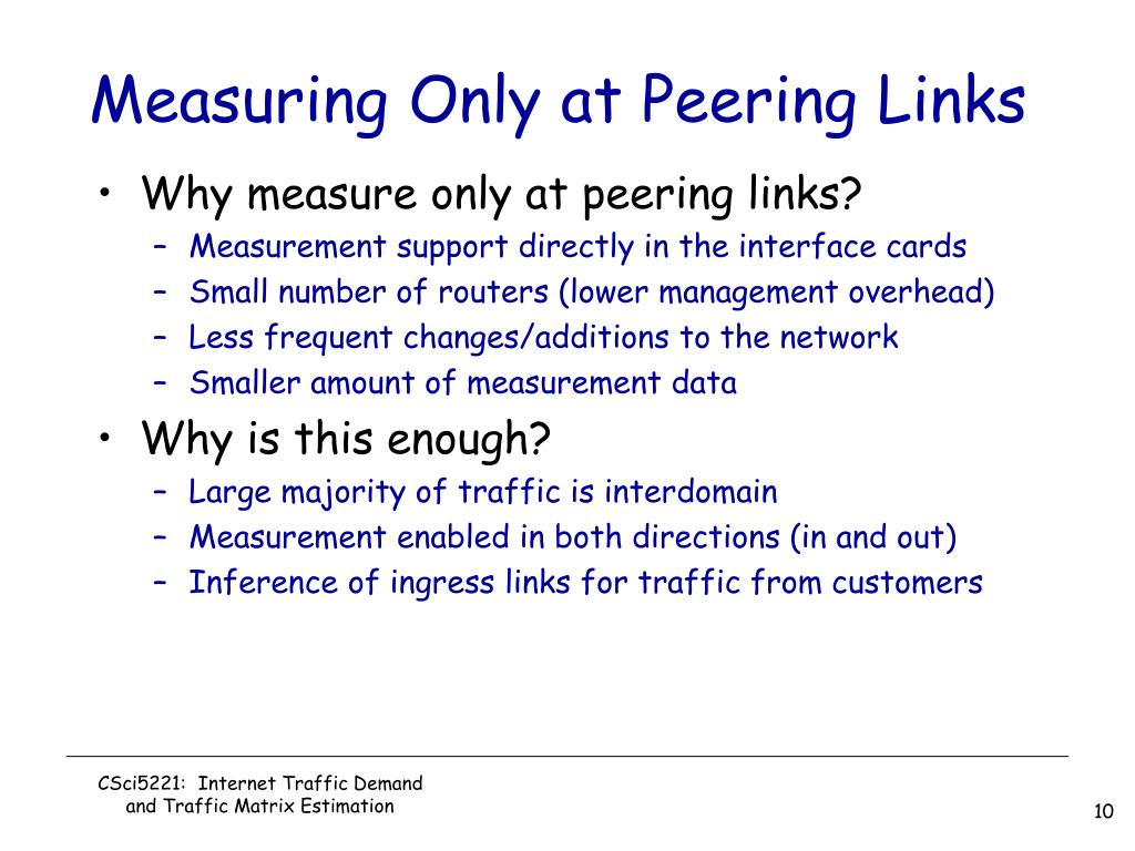 Measuring Only at Peering Links
