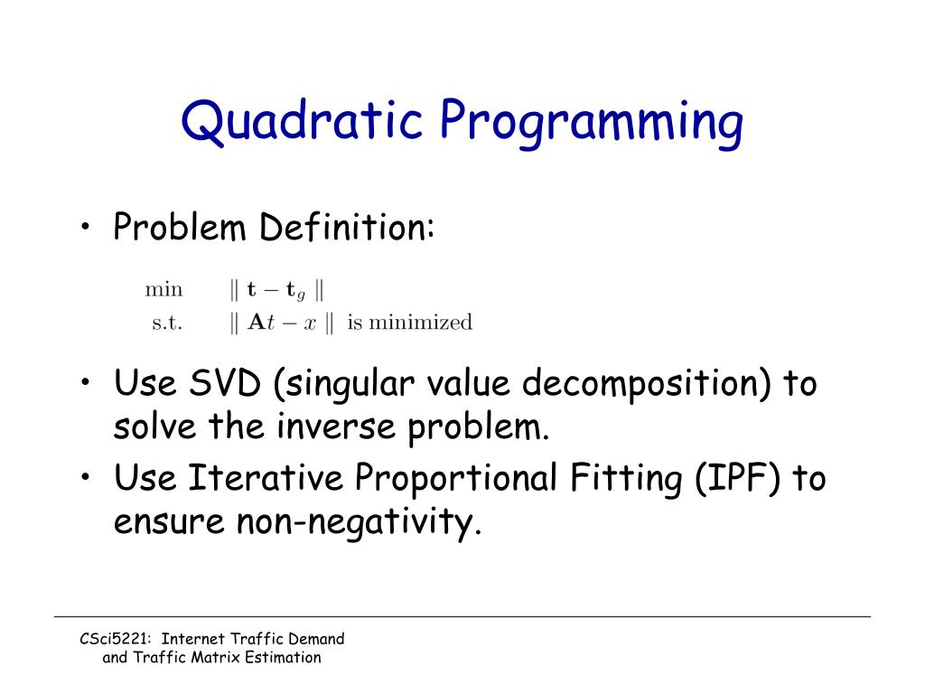 Quadratic Programming