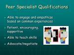 peer specialist qualifications9