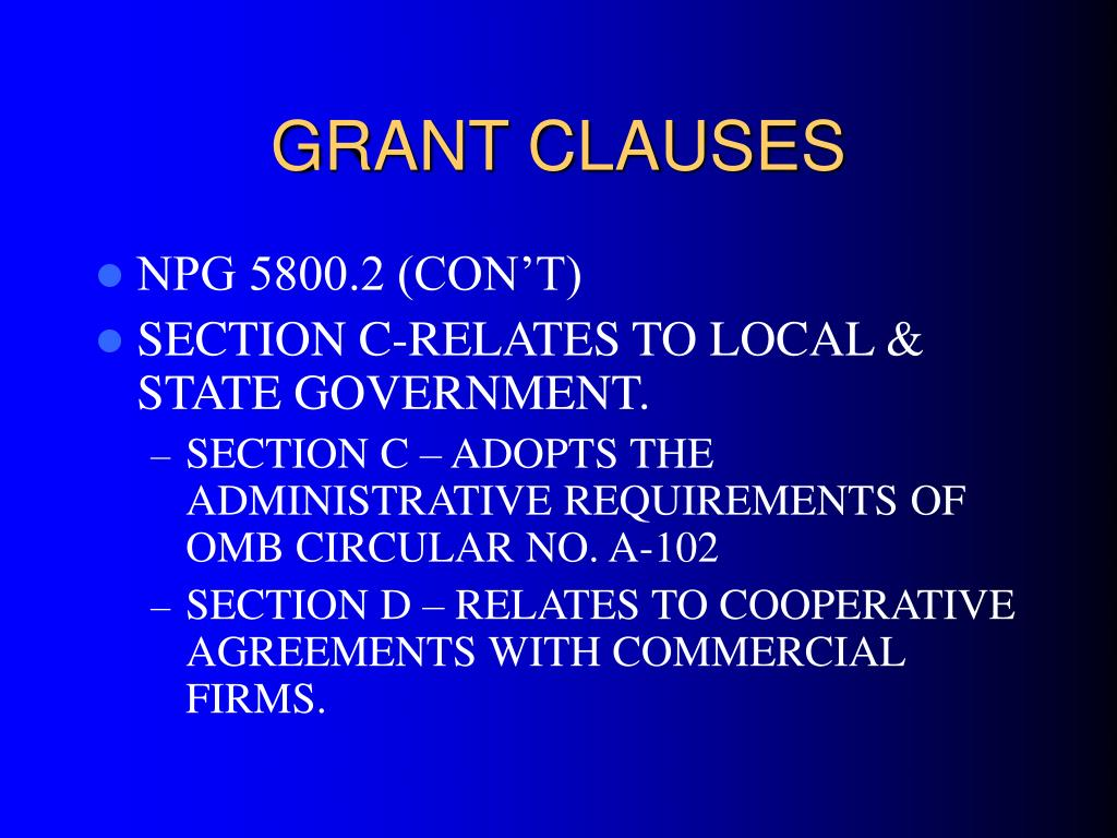 GRANT CLAUSES