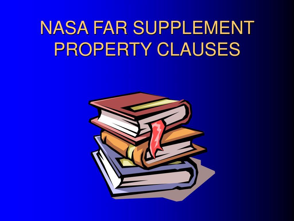NASA FAR SUPPLEMENT