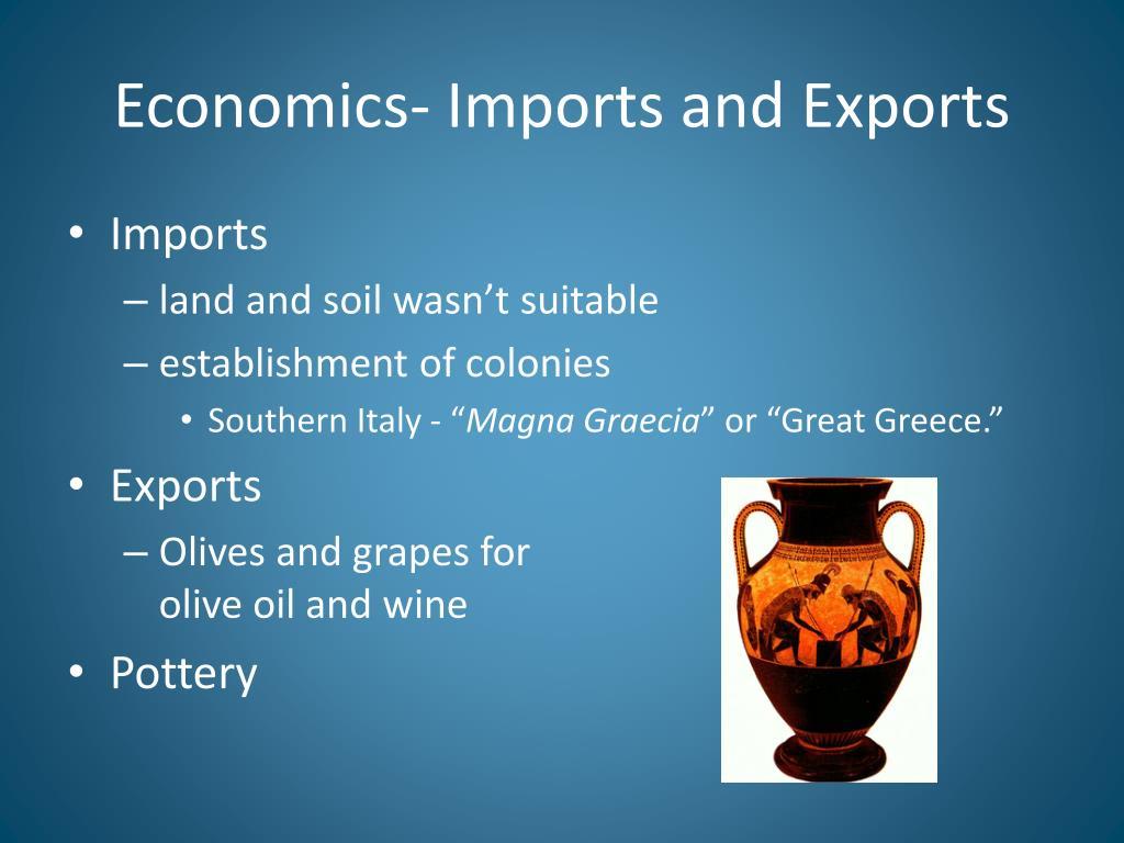 Economics- Imports and Exports
