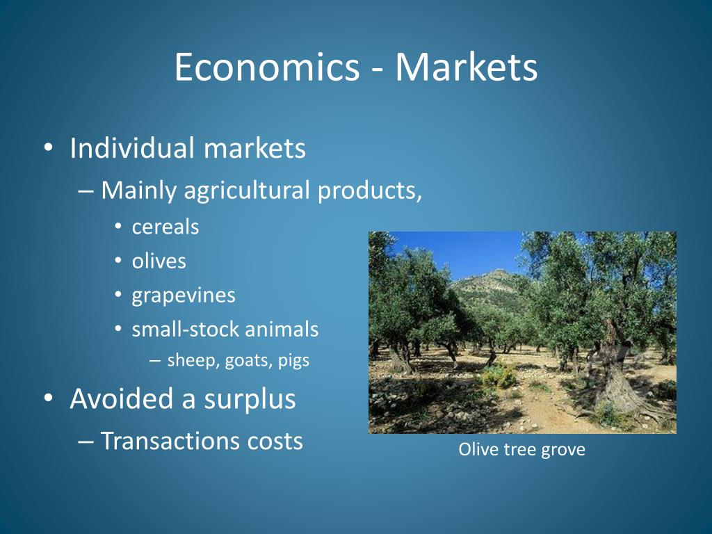 Economics - Markets